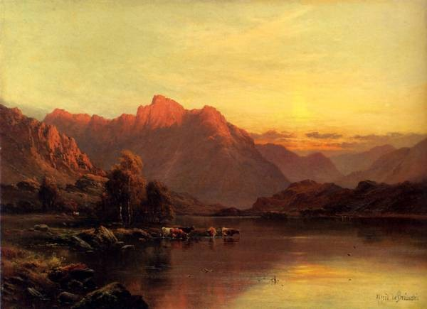 Breanski Alfred De Buttermere The Lake District